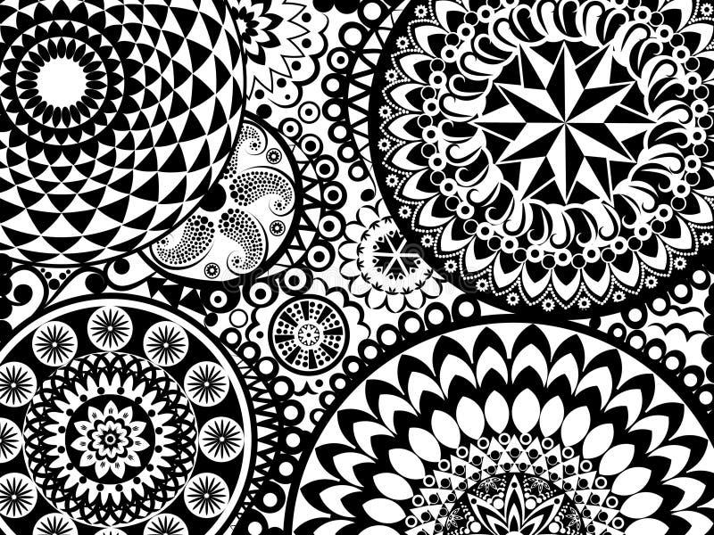 Mandala Pattern ilustração stock