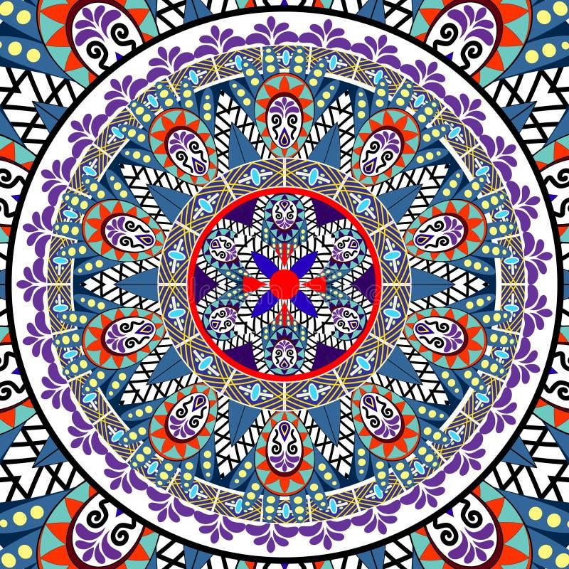 Download Mandala Pattern illustrazione vettoriale. Illustrazione di colore - 55350013