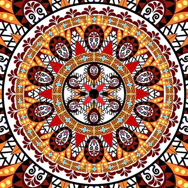 Download Mandala Pattern illustrazione vettoriale. Illustrazione di antique - 55350033