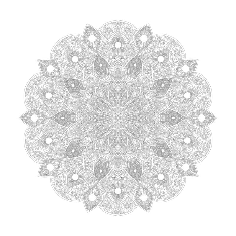 Mandala Pattern Abstract bloemen vectorart. Bloem in Indische beweging veroorzakend De decoratie van het luxekant Rond ornament A vector illustratie