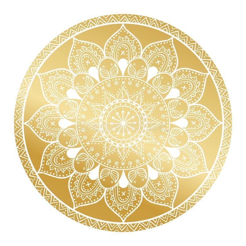 Mandala Pattern Arabisch Uitstekend decoratief ornament Mandala gouden achtergrond Abstracte Stammen, etnische textuur Huwelijk,  vector illustratie