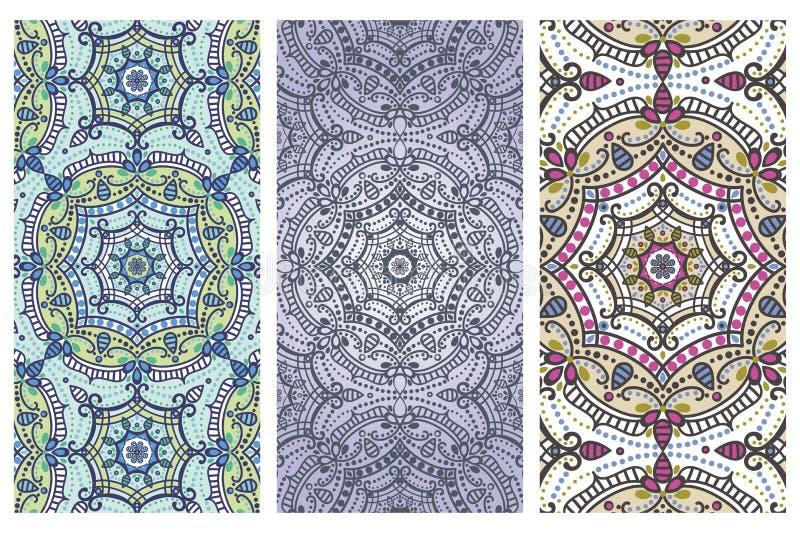 Mandala pattern banner set.Orient,ethnic cards royalty free illustration