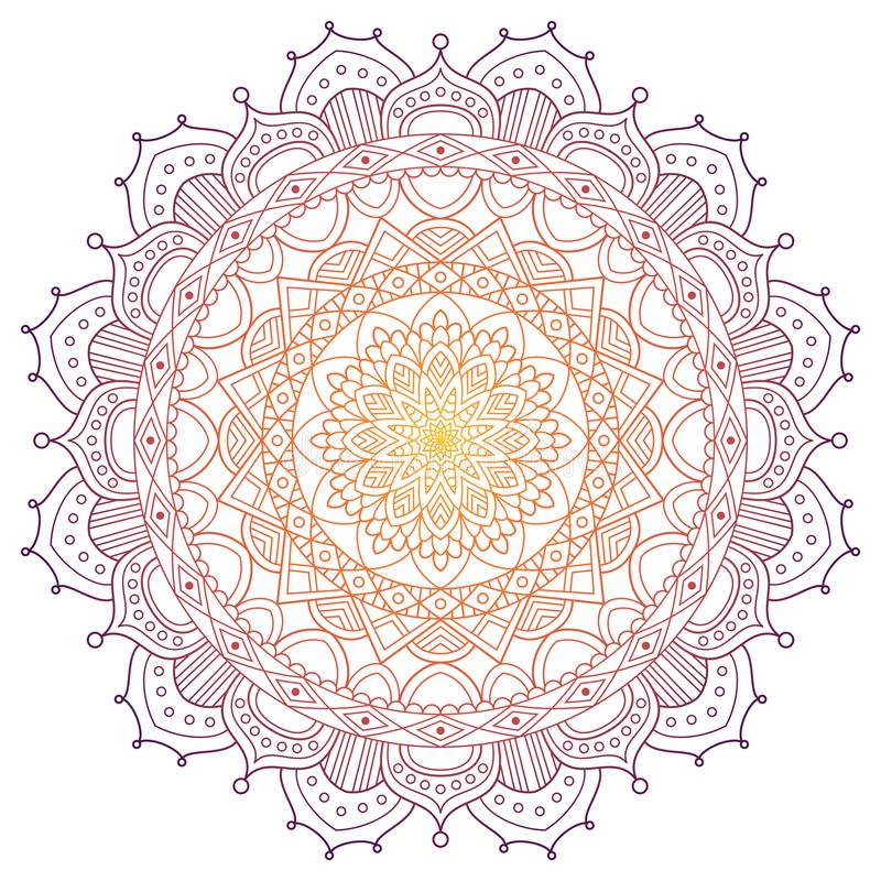 Mandala pattern colored background. Vector illustration. Meditation element for India yoga. Ornament for decorating a royalty free stock images