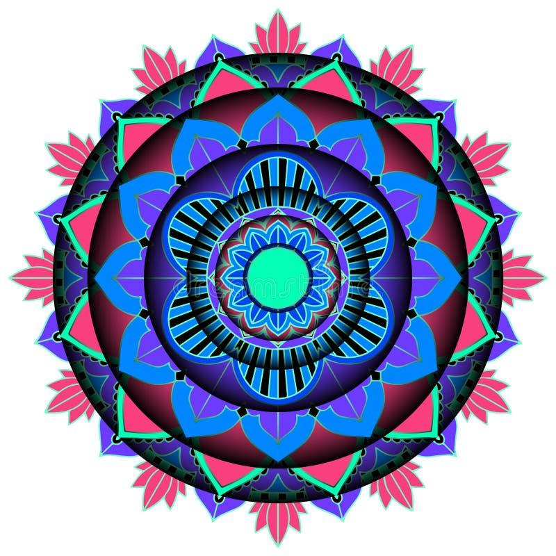 Mandala pattern design on white background stock image