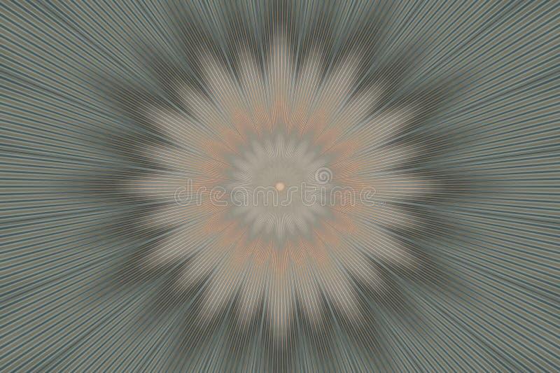 Mandala pattern floral olive kaleidoscope. indian green stock illustration