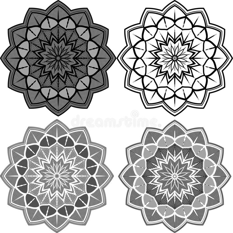 Mandala Pattern Lace lizenzfreie abbildung