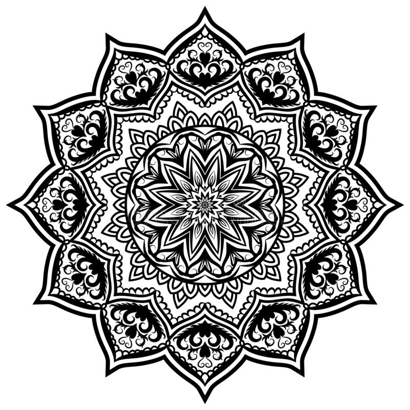 Mandala Pattern Lace 05 stock de ilustración