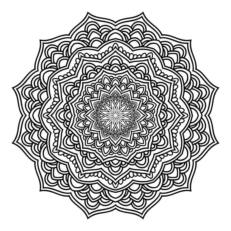 Mandala Pattern Lace 04 ilustração do vetor