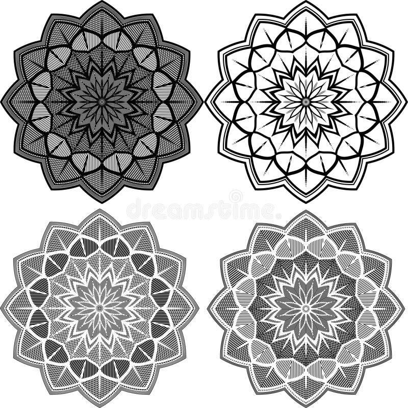 Mandala Pattern Lace ilustração royalty free
