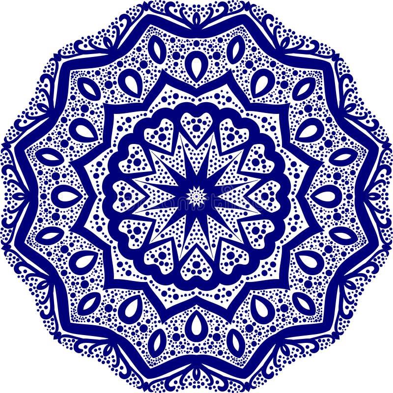 Mandala Pattern Lace 03 ilustração stock