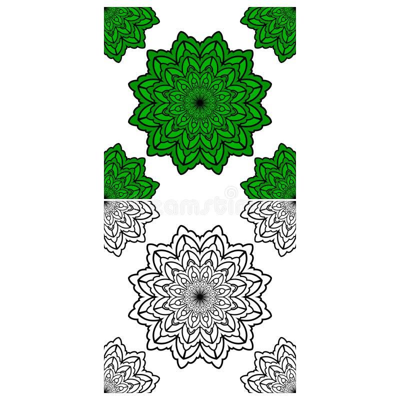 Mandala Pattern Lace 02 ilustração do vetor