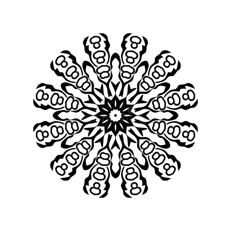 Mandala pattern ornaments geometrical circles flowers style decoration. Mandala pattern ornaments geometrical circles  flowers style decoration many uses for stock illustration