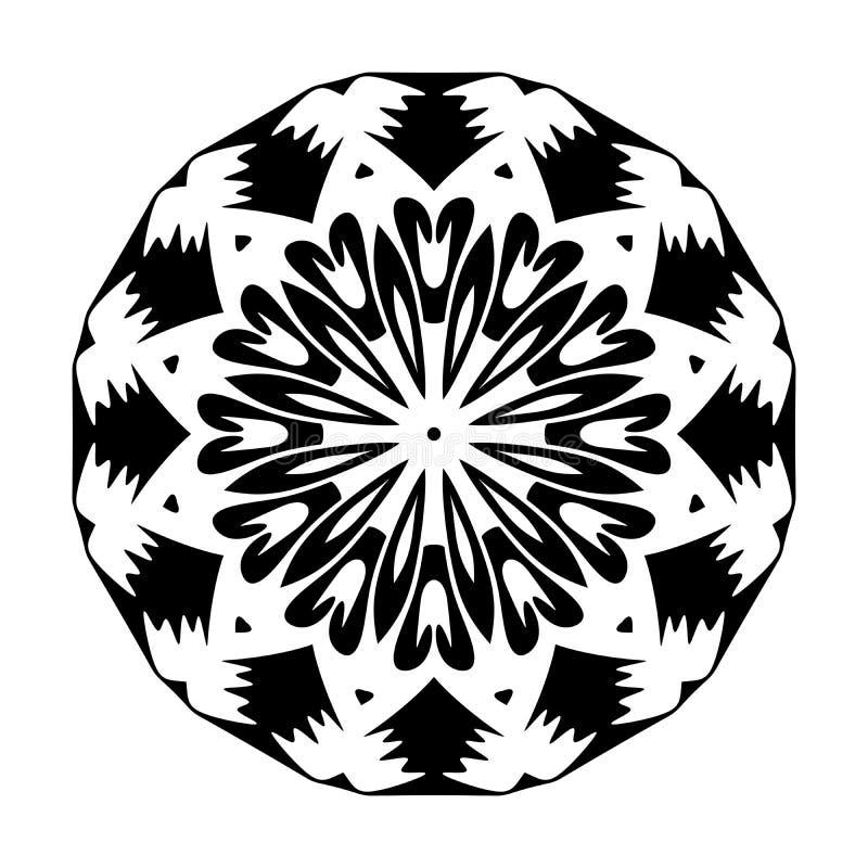 Mandala pattern ornaments geometrical circles flowers style decoration. Mandala pattern ornaments geometrical circles  flowers style decoration many uses for royalty free illustration
