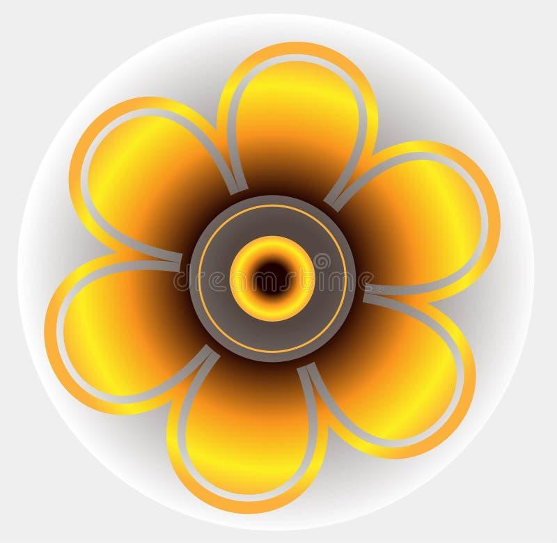 Mandala Pendant Jewelry Forma rotonda decorativa del fiore degli ornamenti illustrazione di stock