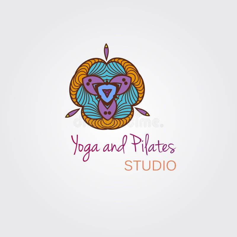 Mandala person som tillhör en etnisk minoritetabstrakt begreppprydnad för logodesign vektor illustrationer
