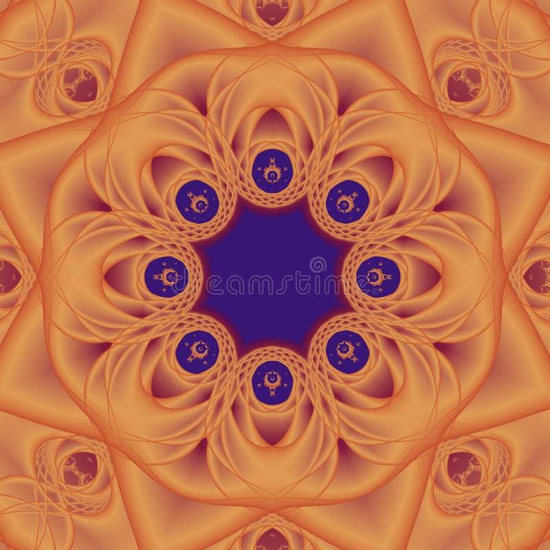mandala pomarańcze ilustracji
