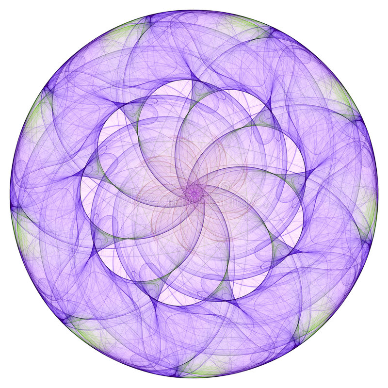 Mandala pourpré illustration de vecteur