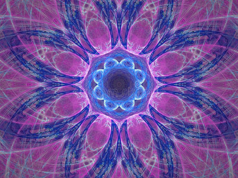 Mandala pourpré illustration stock