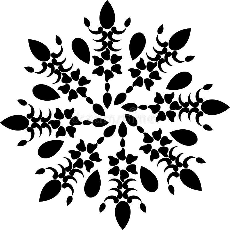 Mandala preto e branco, fundo abstrato do vetor e projeto sem emenda do teste padrão da repetição ilustração royalty free