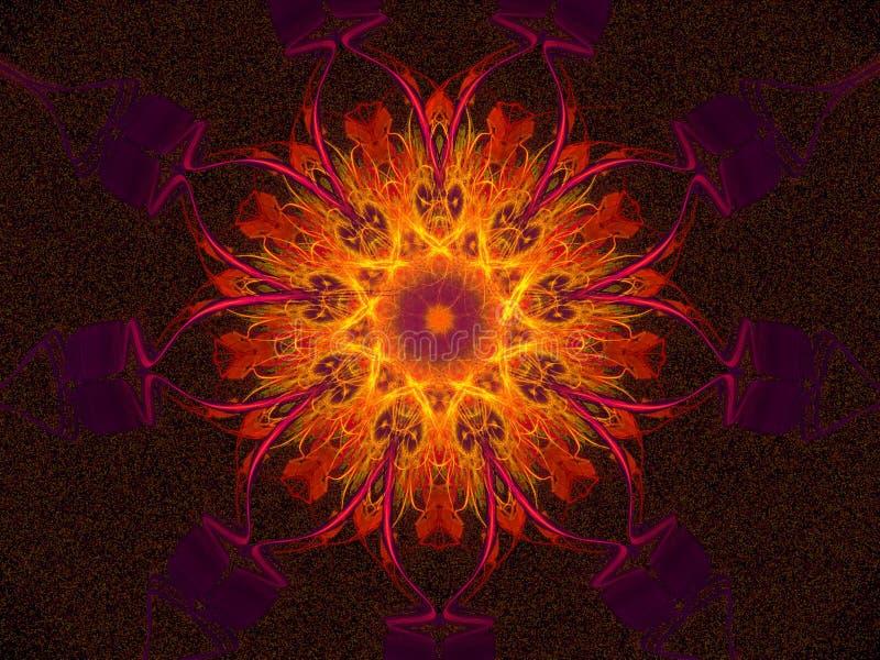 Mandala que brilla intensamente caliente libre illustration