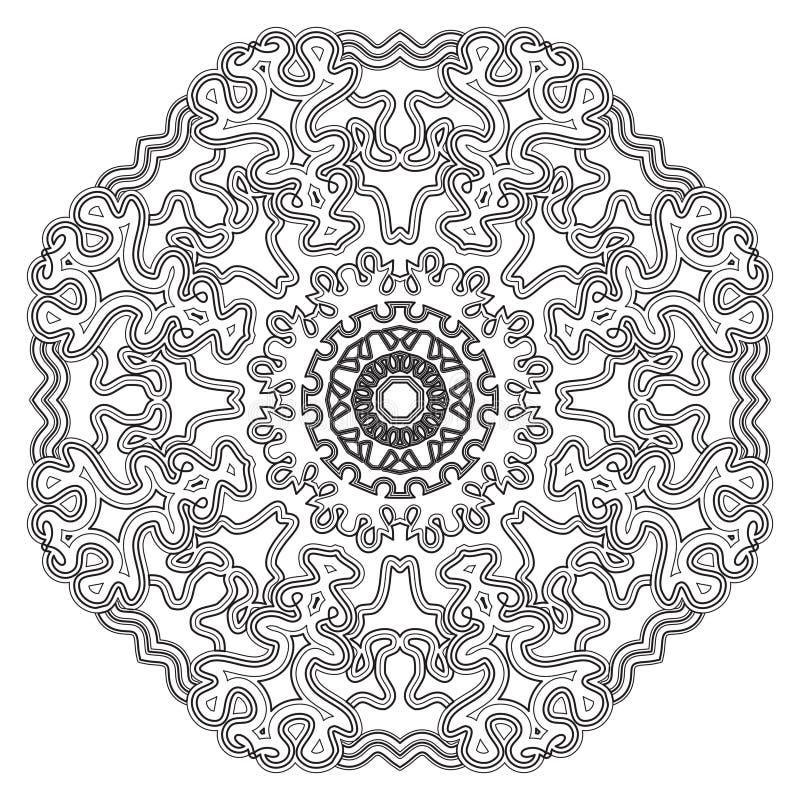 mandala Rocznika ornamentu Round wzór Islamski, Arabski, indianin royalty ilustracja