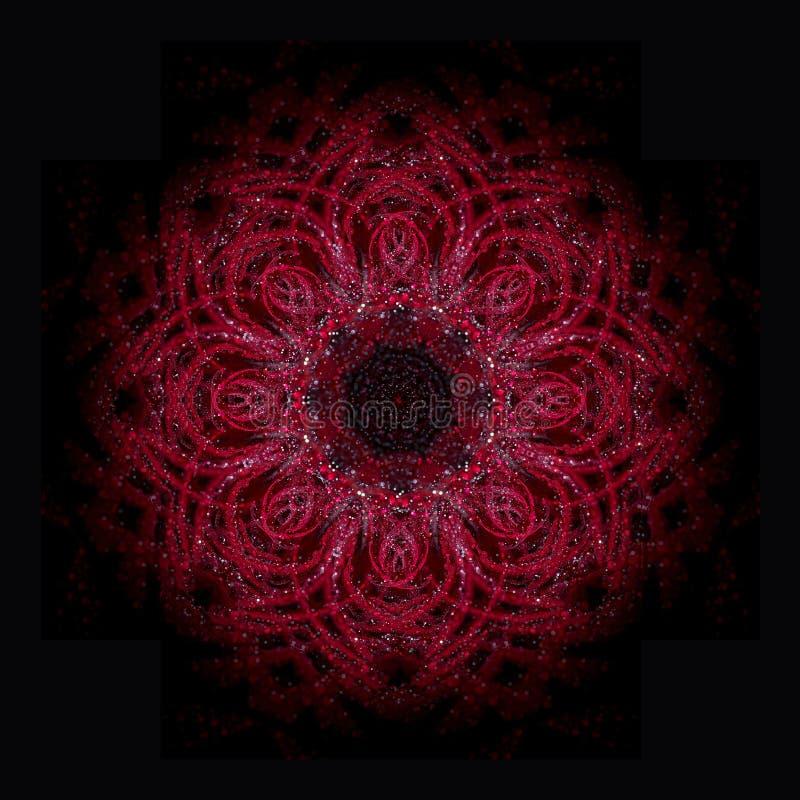 Mandala roja libre illustration