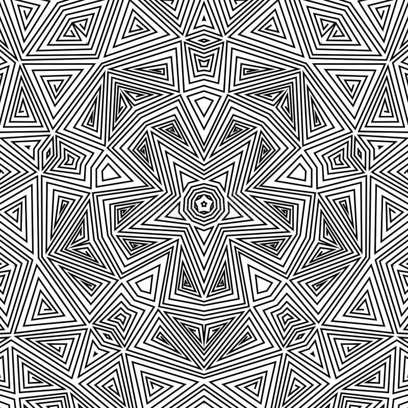 mandala Rond Ornamentpatroon vector illustratie