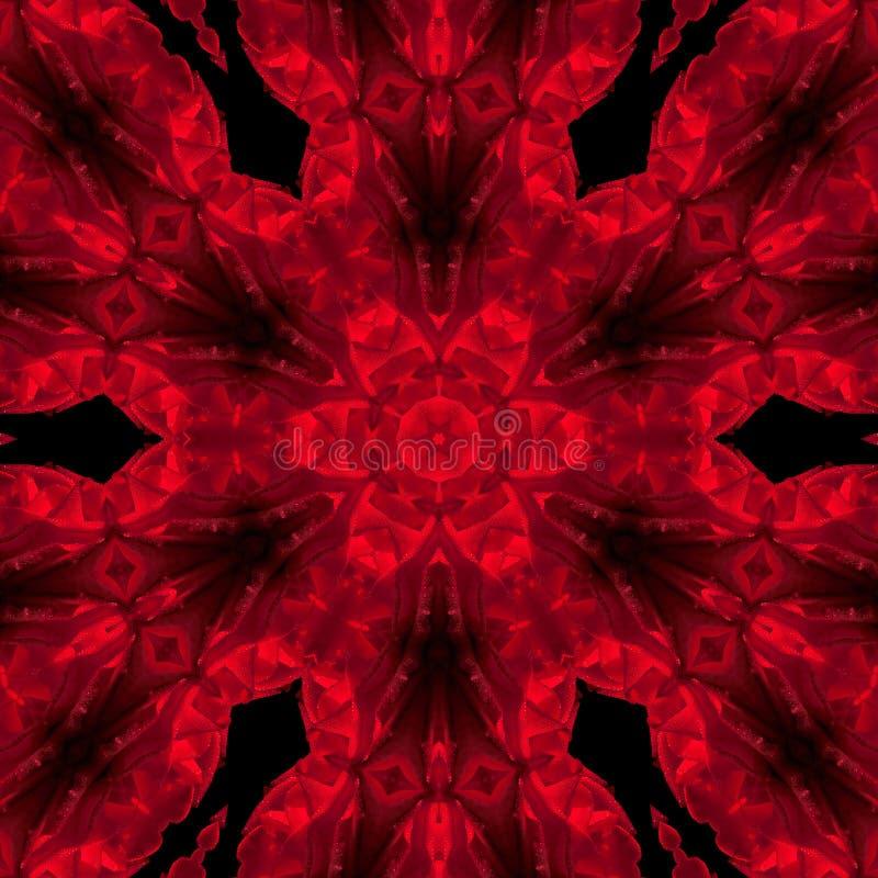 Mandala rose de rouge illustration stock