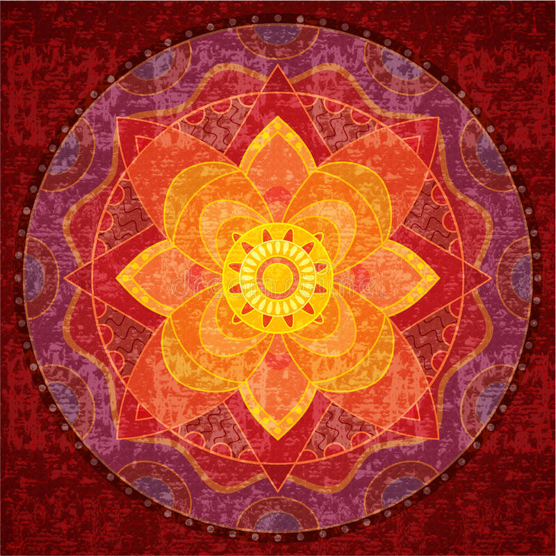 Mandala rossa royalty illustrazione gratis