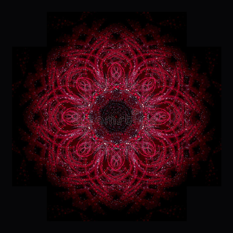 Mandala rouge illustration libre de droits