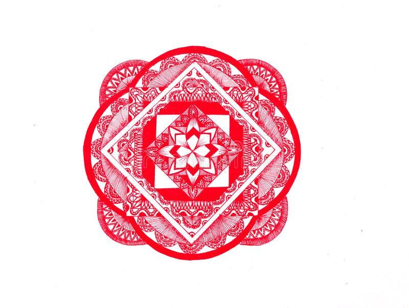 Mandala rouge photo libre de droits