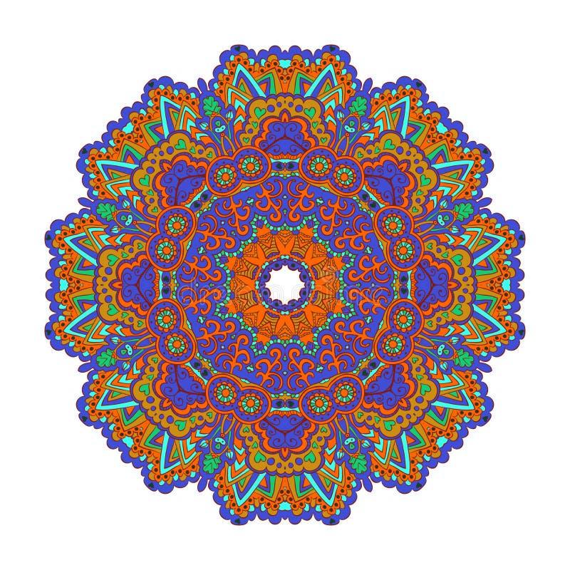 Mandala Round Ornament Pattern Vector vektor illustrationer