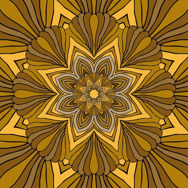 Mandala Round Ornament Pattern Vector stock illustratie
