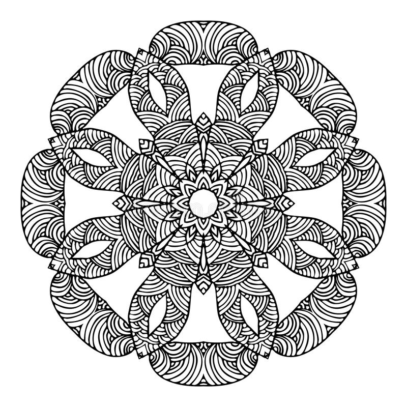 Mandala Round Ornament Pattern Vector royalty-vrije illustratie