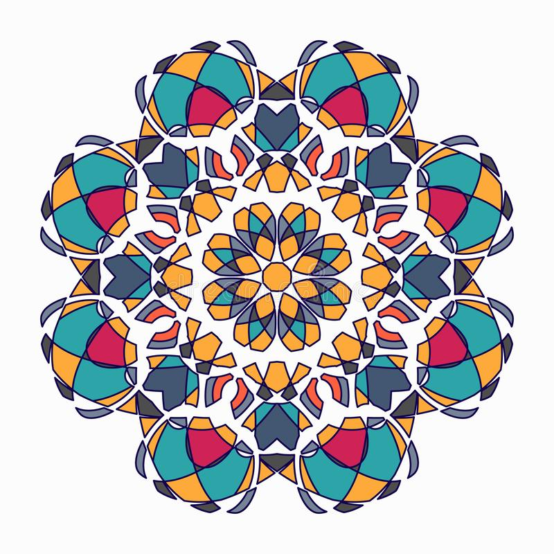 Mandala. Round Ornament Pattern. Vintage decorative elements royalty free illustration