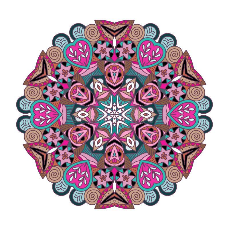 Mandala. Round vector ornament Mandala. Traditional orient symbol royalty free illustration
