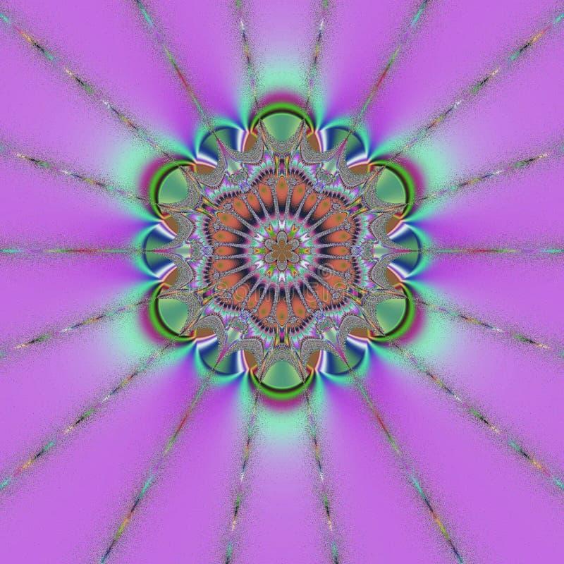Mandala roxa ilustração do vetor