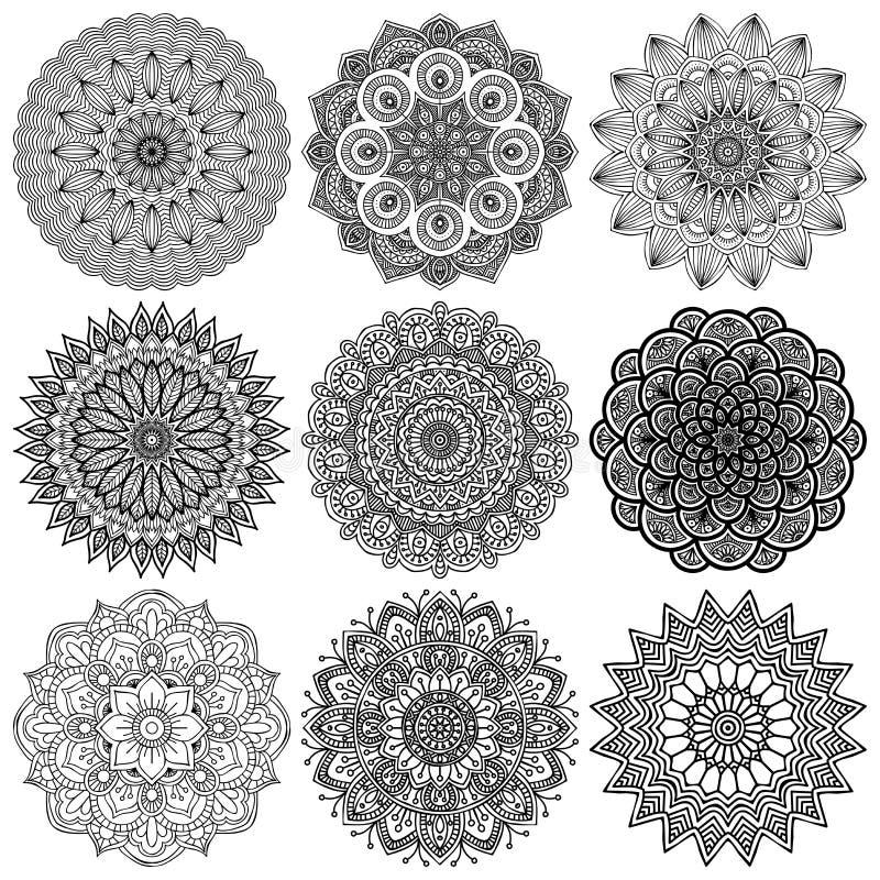 Mandala Rundes Verzierungs-Muster Stock Abbildung - Bild 46230645