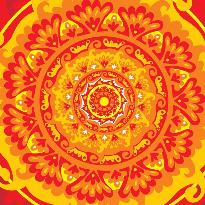 mandala słońce royalty ilustracja