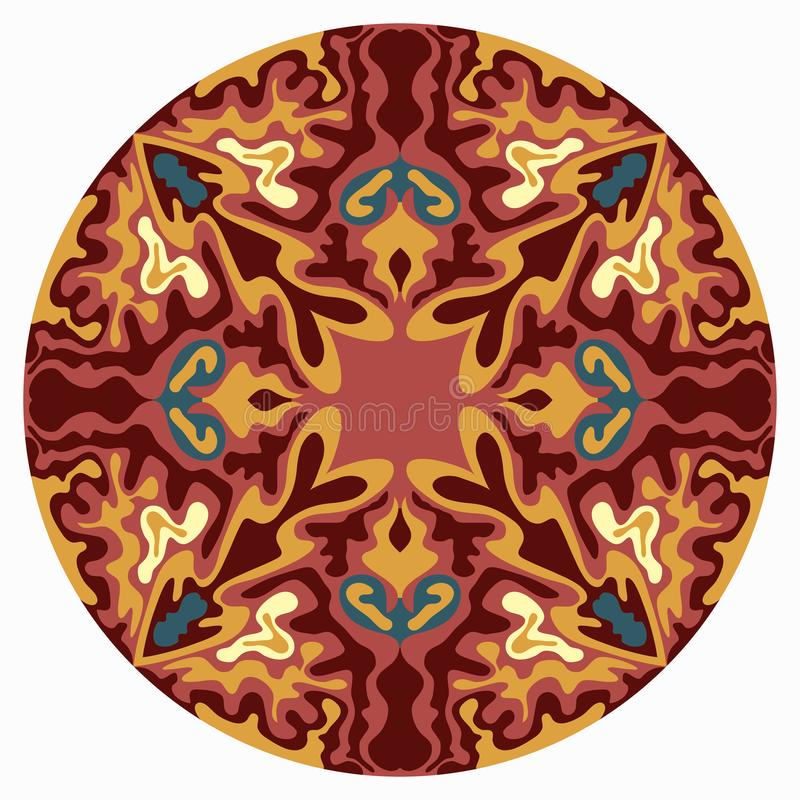 mandala schöne Weinleseelemente Auch im corel abgehobenen Betrag vektor abbildung