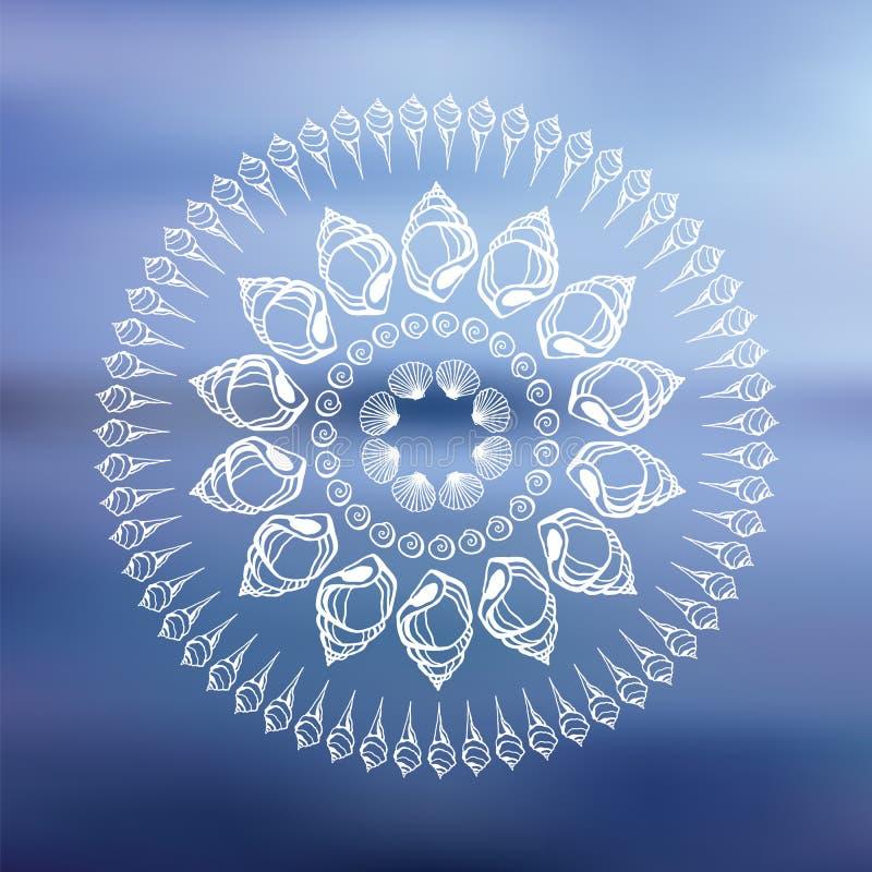 Free Mandala. Sea Background. Stock Image - 39504801