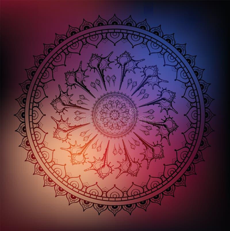 Free Mandala. Sea Background. Royalty Free Stock Images - 41130939