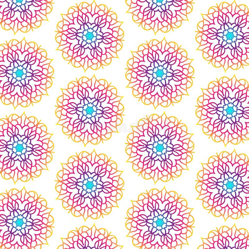 Mandala Seamless Pattern For Backgrounds stock foto's