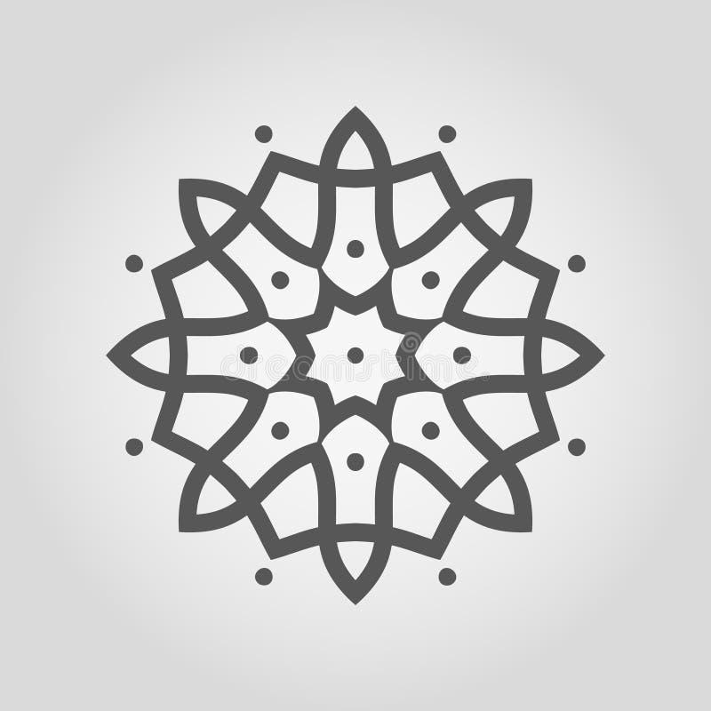 Mandala Shape simples logo ilustração do vetor