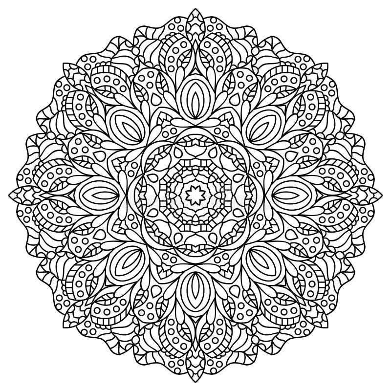 mandala Sidor för färgläggningbok stock illustrationer