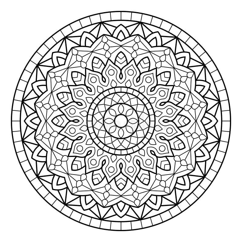 mandala Sidor för färgläggningbok vektor illustrationer
