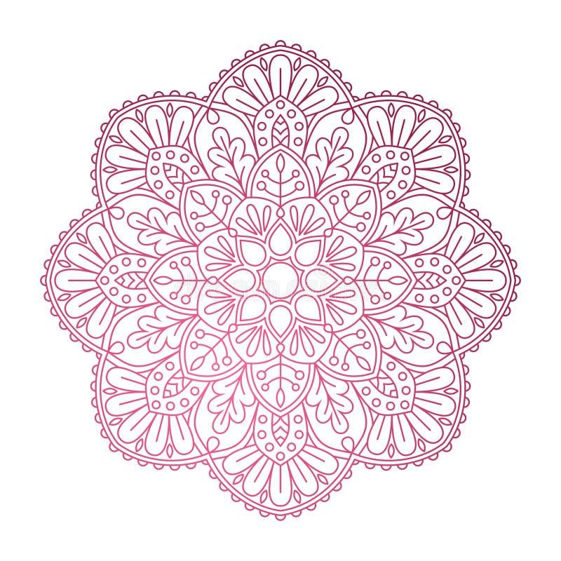 mandala Sier rond patroon royalty-vrije illustratie