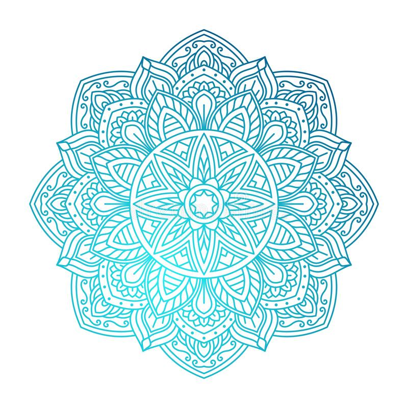 mandala Sier rond patroon stock illustratie