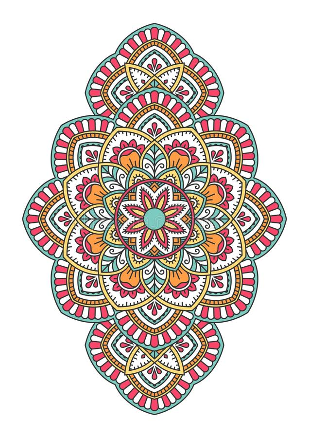 mandala Sier rond patroon vector illustratie