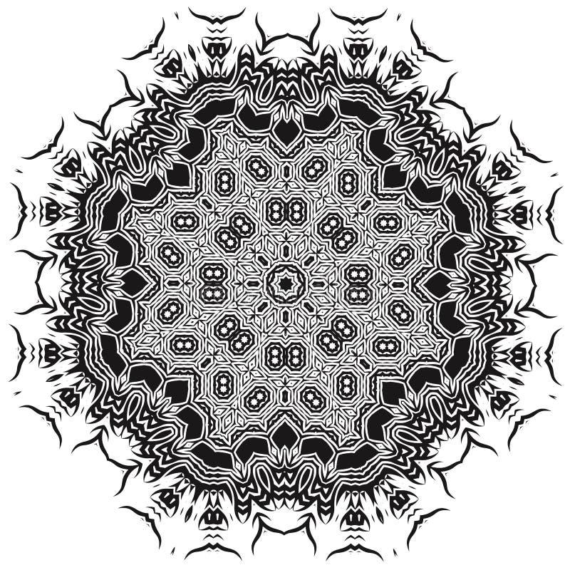 Mandala Silhouete ornementale illustration libre de droits